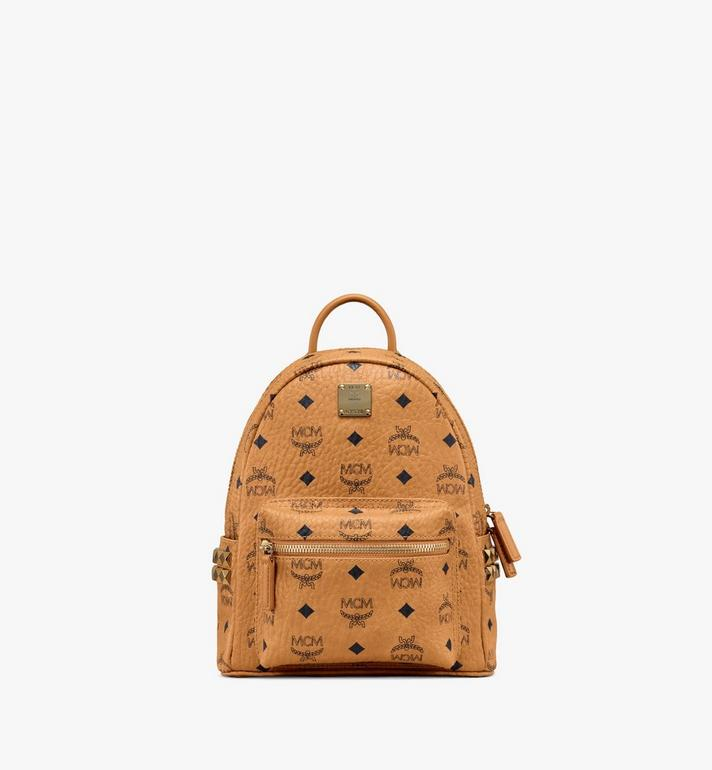 MCM Stark Side Studs Rucksack in Visetos MMK6SVE41CO001 AlternateView