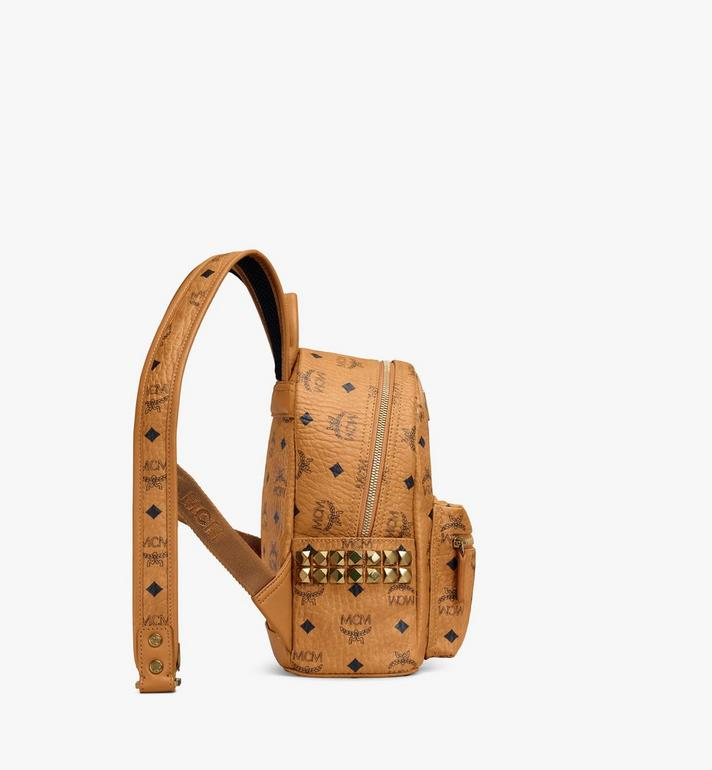 MCM Stark Side Studs Rucksack in Visetos MMK6SVE41CO001 AlternateView2