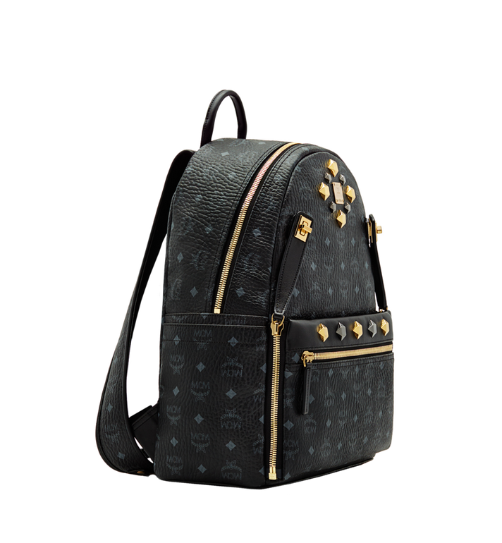 MCM Dual Stark Backpack in Visetos MMK6SVE79BK001 AlternateView2