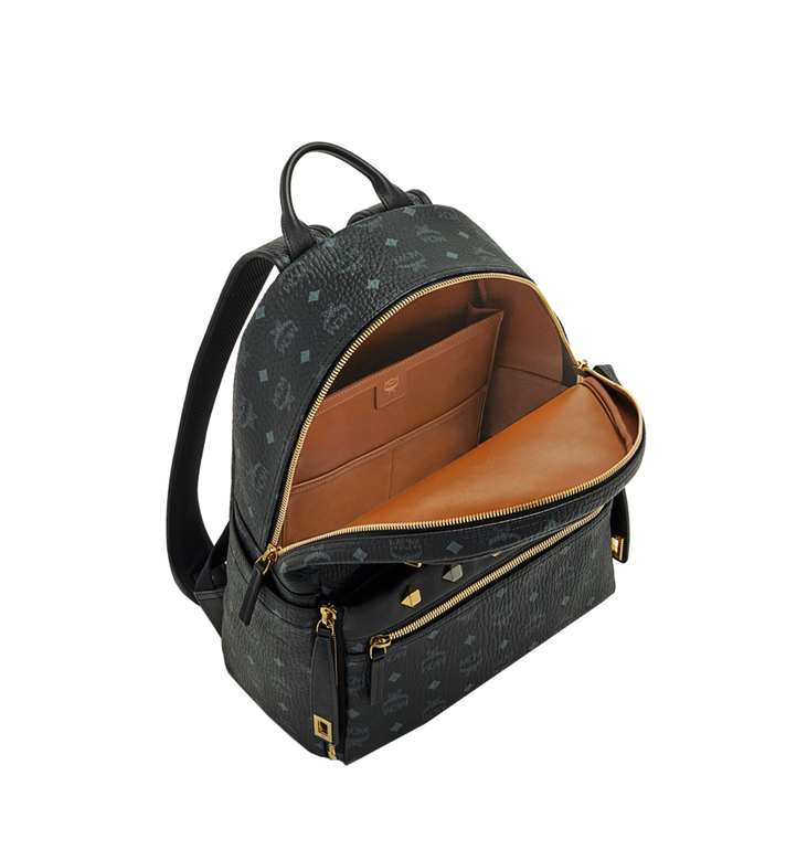 MCM Dual Stark Backpack in Visetos MMK6SVE79BK001 AlternateView5