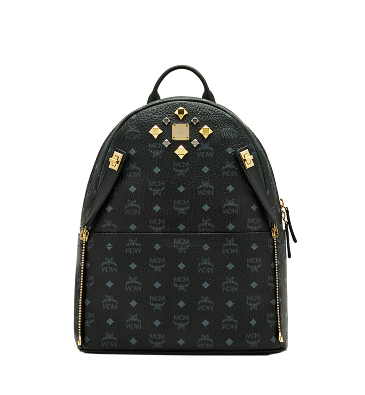 MCM Dual Stark Backpack in Visetos MMK6SVE79BK001 AlternateView6
