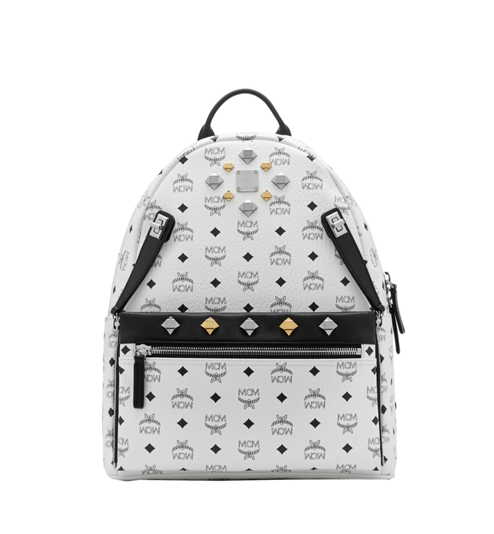 MCM Dual Stark Backpack in Visetos MMK6SVE79WT001 AlternateView1