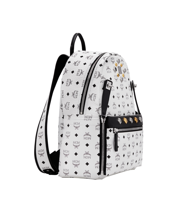 MCM Dual Stark Backpack in Visetos MMK6SVE79WT001 AlternateView2