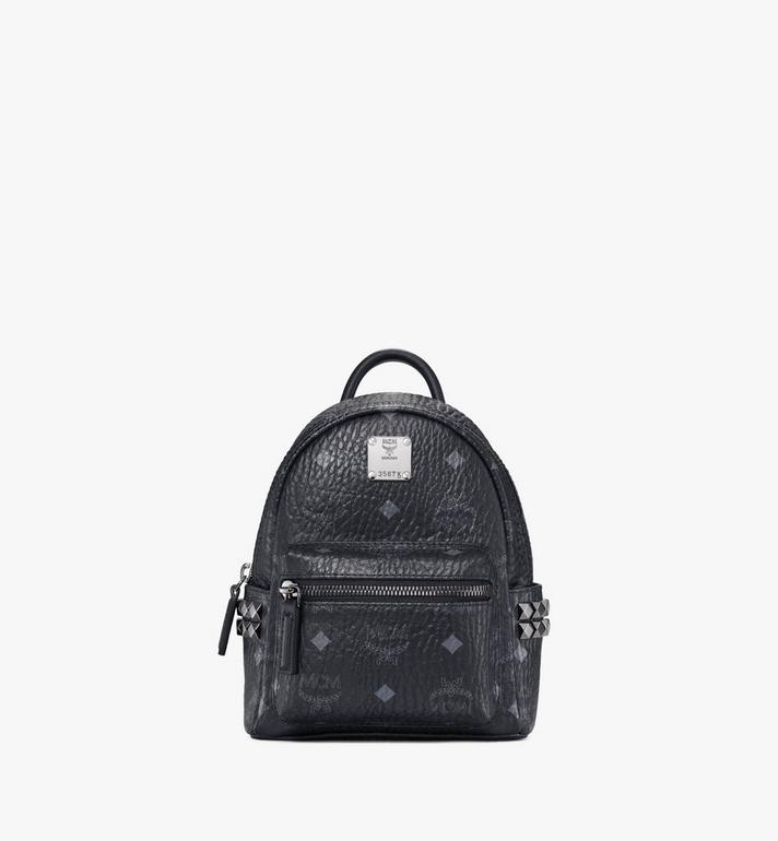 MCM Stark Side Studs Bebe Boo Backpack in Visetos MMK6SVE92BK001 AlternateView