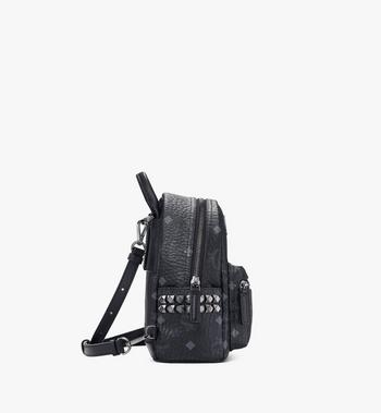 MCM Stark Side Studs Bebe Boo Backpack in Visetos MMK6SVE92BK001 AlternateView2
