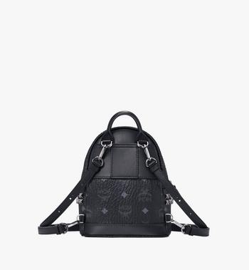 MCM Stark Side Studs Bebe Boo Backpack in Visetos MMK6SVE92BK001 AlternateView4
