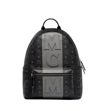MCM Stark Logo Stripe Backpack in Visetos MMK7AVE27BK001 AlternateView