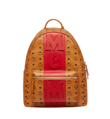 MCM Stark Logo Stripe Backpack in Visetos MMK7AVE27CO001 AlternateView