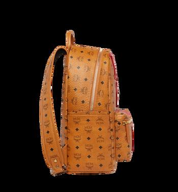 MCM Stark Logo Stripe Backpack in Visetos MMK7AVE27CO001 AlternateView3