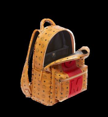 MCM Stark Logo Stripe Backpack in Visetos MMK7AVE27CO001 AlternateView5