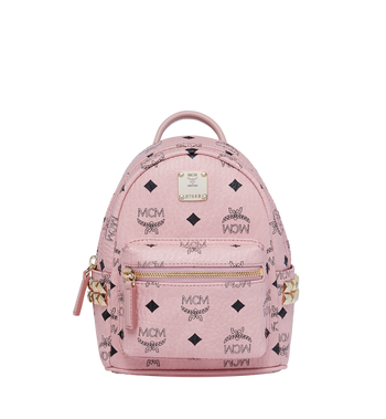 MCM Stark Side Studs Bebe Boo Backpack in Visetos MMK7AVE92PZ001 AlternateView