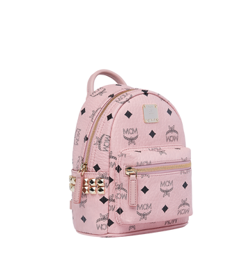MCM Stark Side Studs Bebe Boo Backpack in Visetos MMK7AVE92PZ001 AlternateView2