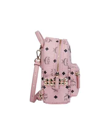 MCM Stark Side Studs Bebe Boo Backpack in Visetos MMK7AVE92PZ001 AlternateView3