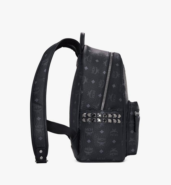 MCM Stark Side Studs Rucksack in Visetos MMK7AVE99BK001 AlternateView2