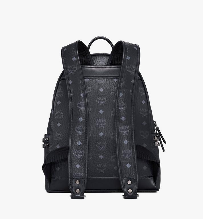 MCM Stark Side Studs Rucksack in Visetos MMK7AVE99BK001 AlternateView4