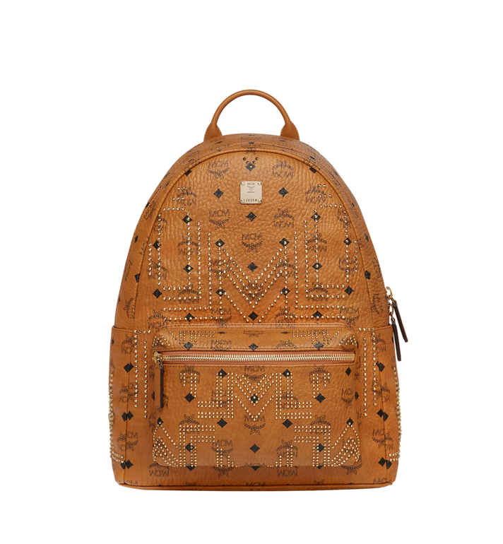 MCM Stark Backpack in Gunta M Studs Visetos MMK8AVE55CO001 AlternateView1