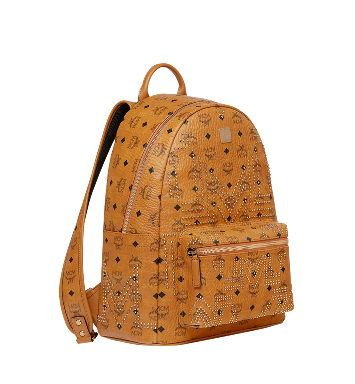 MCM Stark Backpack in Gunta M Studs Visetos MMK8AVE55CO001 AlternateView2