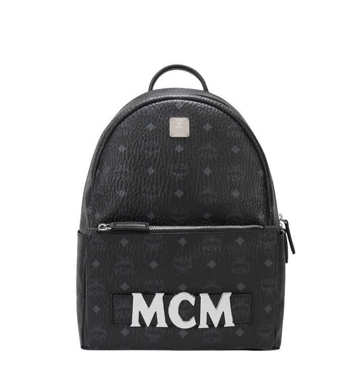 MCM Trilogie Stark Backpack in Visetos MMK8AVE72BK001 AlternateView