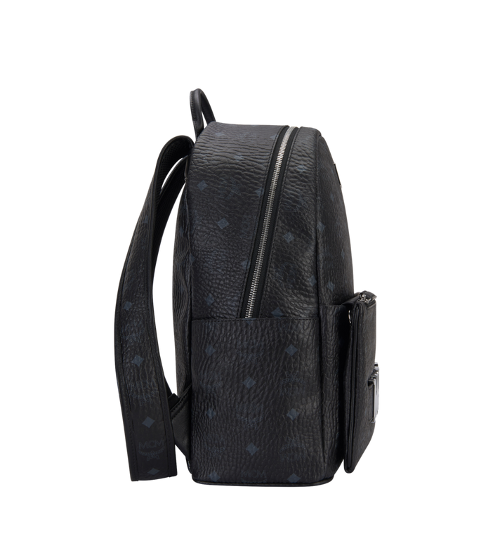 MCM Trilogie Stark Backpack in Visetos MMK8AVE72BK001 AlternateView3