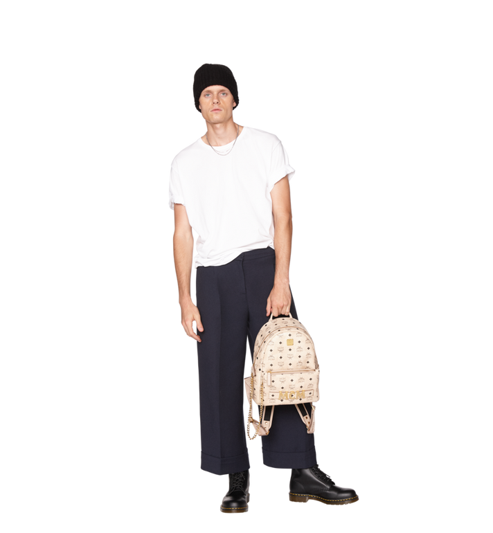 MCM Trilogie Stark Backpack in Visetos MMK8AVE83IG001 AlternateView10