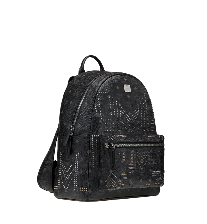 MCM Stark Backpack in Gunta M Studs Visetos MMK8AVE89BK001 AlternateView2