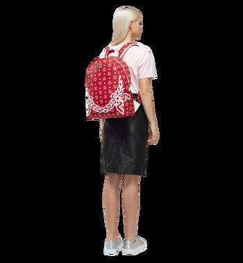 MCM Dietrich Laurel Backpack in Visetos MMK8SDI05RV001 AlternateView6