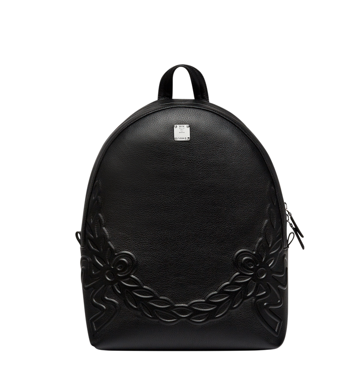 MCM Dietrich Laurel Backpack in Leather MMK8SDI06BK001 AlternateView