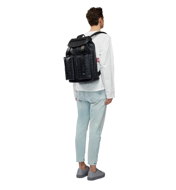 MCM Kreuzberg Backpack in Visetos MMK8SGE01BK001 AlternateView6