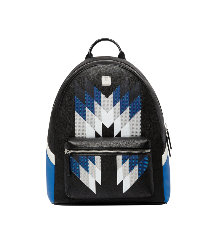 MCM Stark Chevron Diamond Backpack in Leather MMK8SVE32BK001 AlternateView