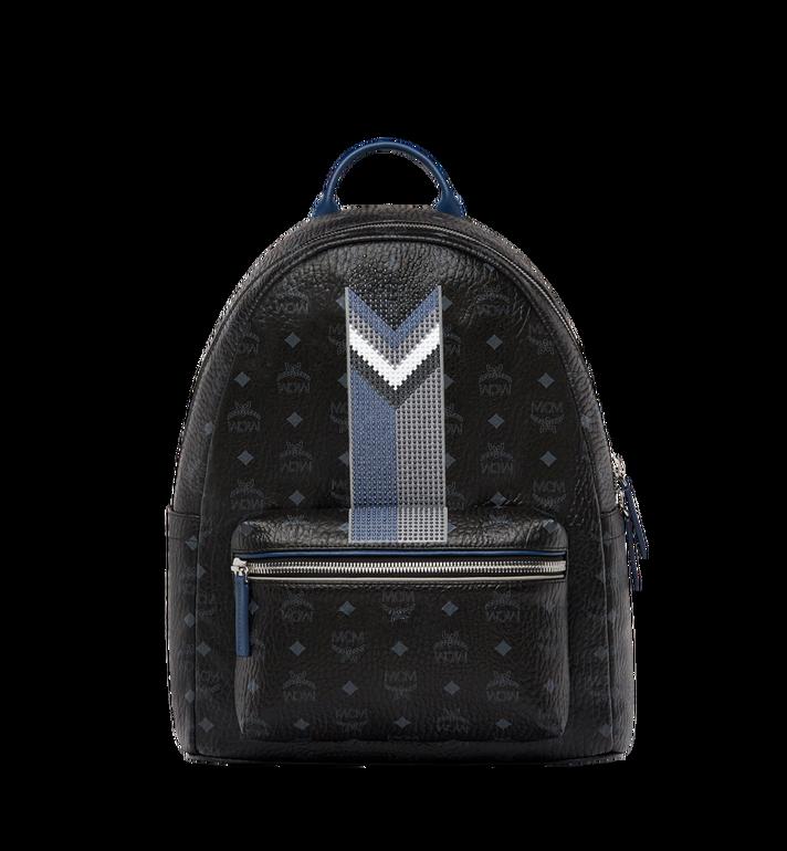 MCM Stark Chevron Stripe Backpack in Visetos MMK8SVE45BK001 AlternateView