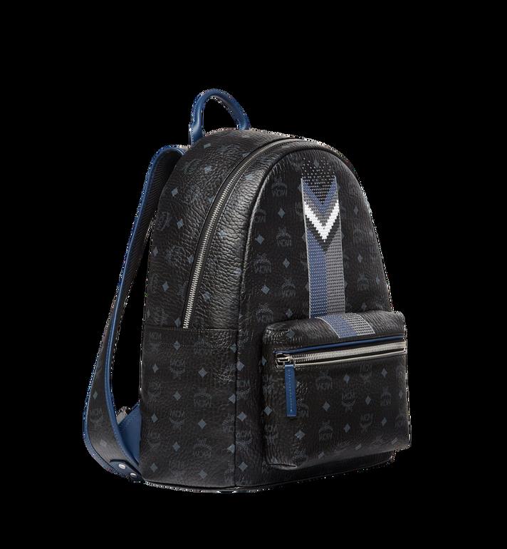 MCM Stark Chevron Stripe Backpack in Visetos MMK8SVE45BK001 AlternateView2