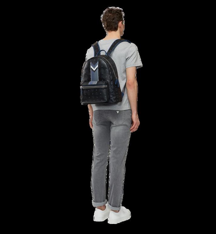 MCM Stark Chevron Stripe Backpack in Visetos MMK8SVE45BK001 AlternateView6