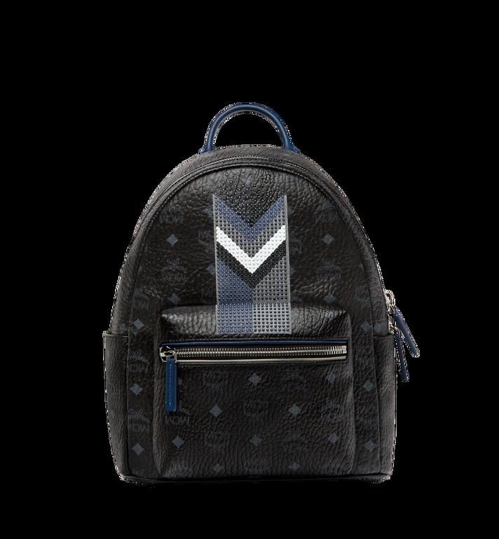 MCM Stark Chevron Stripe Backpack in Visetos MMK8SVE46BK001 AlternateView