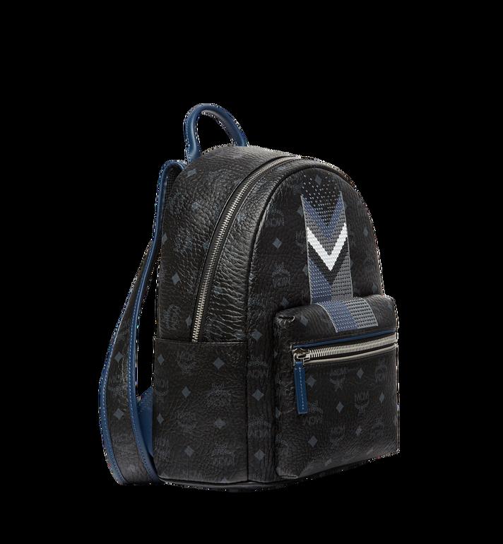 MCM Stark Chevron Stripe Backpack in Visetos MMK8SVE46BK001 AlternateView2