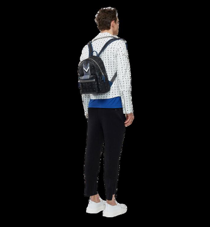 MCM Stark Chevron Stripe Backpack in Visetos MMK8SVE46BK001 AlternateView6