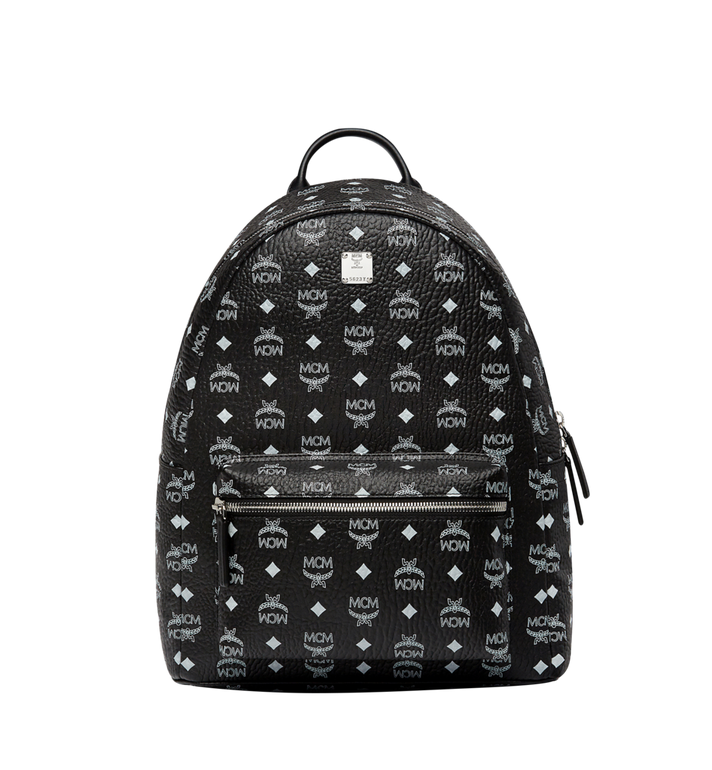 MCM Stark White Logo Backpack in Visetos MMK8SVE48BV001 AlternateView