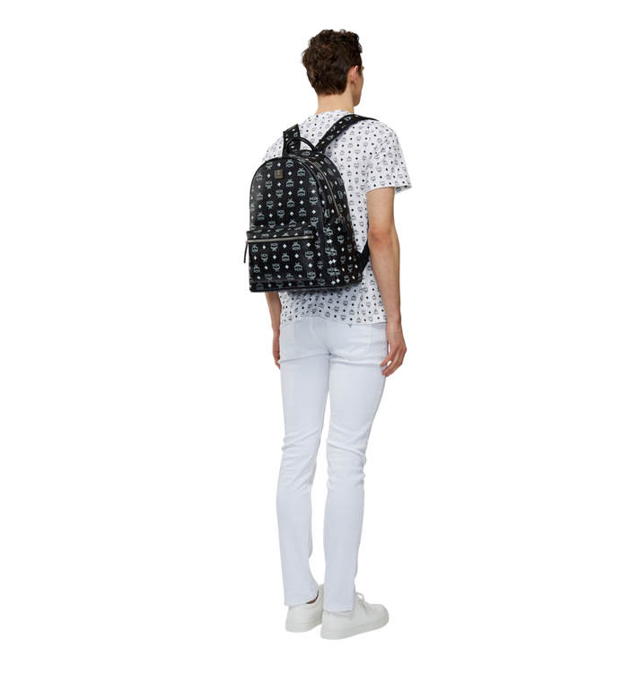 MCM Stark Rucksack in Weiß mit Logo Visetos-Aufdruck MMK8SVE48BV001 AlternateView6