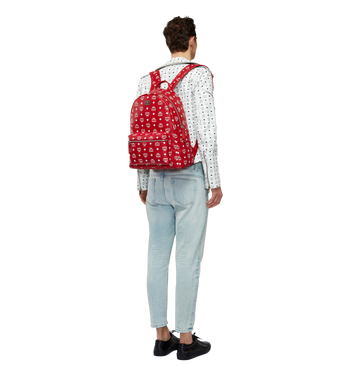 MCM Stark White Logo Backpack in Visetos MMK8SVE48RV001 AlternateView6