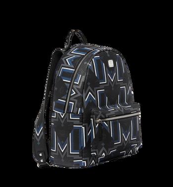 MCM Stark Gunta M Stripe Backpack in Visetos MMK8SVE53BK001 AlternateView2