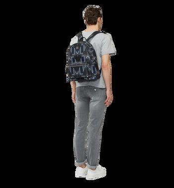 MCM Stark Gunta M Stripe Backpack in Visetos MMK8SVE53BK001 AlternateView6