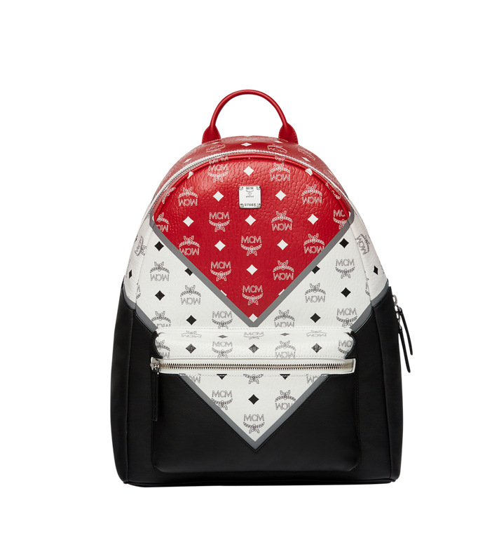 MCM Stark Chevron Backpack in Visetos Colorblock Leather MMK8SVE76BK001 AlternateView