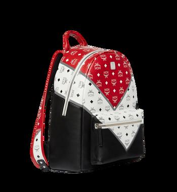 MCM Stark Chevron Backpack in Visetos Colorblock Leath MMK8SVE76BK001 AlternateView2