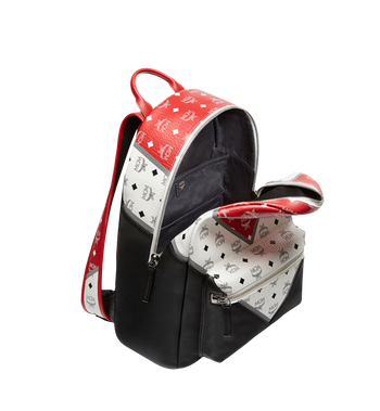 MCM Stark Chevron Backpack in Visetos Colorblock Leath MMK8SVE76BK001 AlternateView5