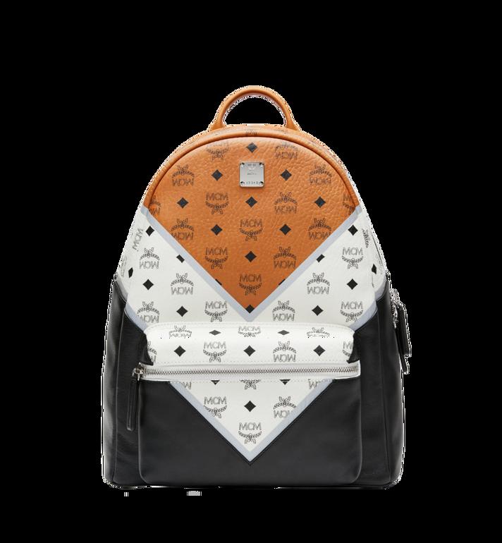 MCM Stark Chevron Backpack in Visetos Colorblock Leath MMK8SVE76CO001 AlternateView