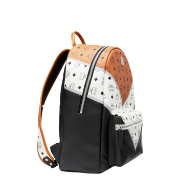 MCM Stark Chevron Backpack in Visetos Colorblock Leath MMK8SVE76CO001 AlternateView2