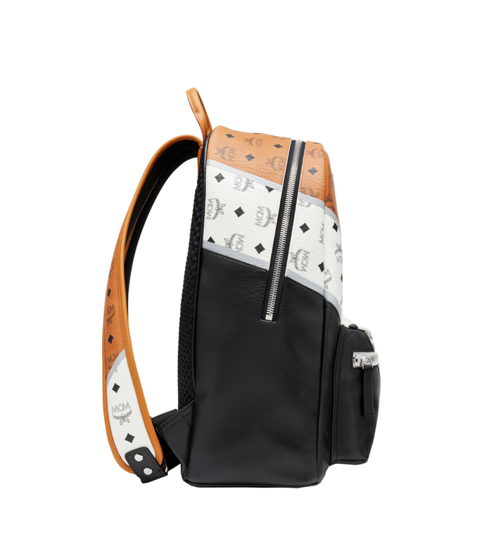 MCM Stark Chevron Backpack in Visetos Colorblock Leath MMK8SVE76CO001 AlternateView3