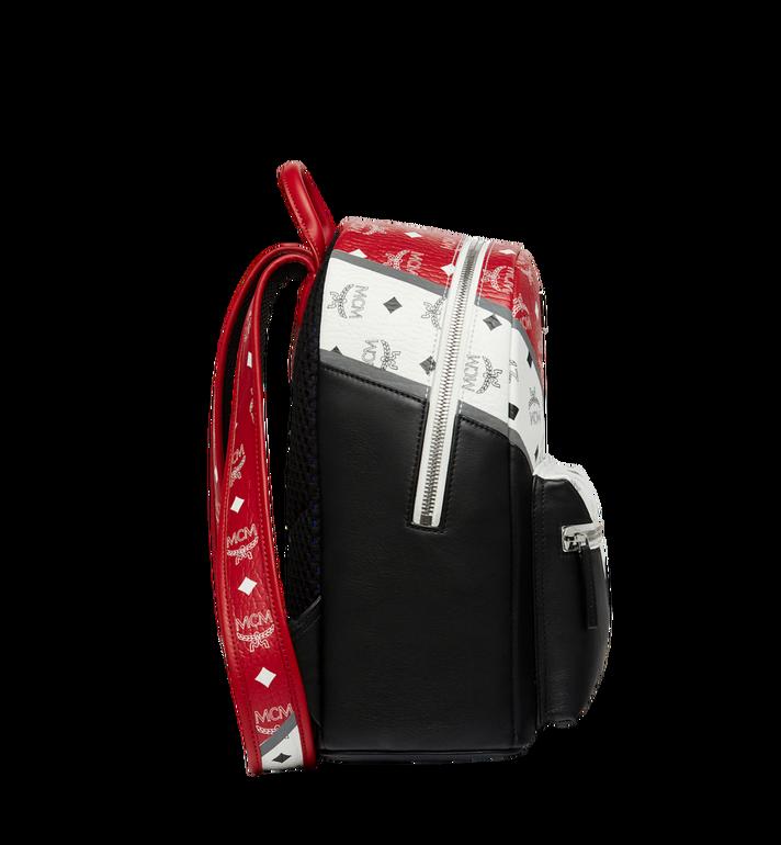 MCM Stark Chevron Backpack in Visetos Colorblock Leath MMK8SVE77BK001 AlternateView3