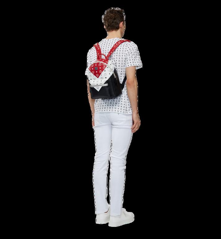 MCM Stark Chevron Backpack in Visetos Colorblock Leath MMK8SVE77BK001 AlternateView6