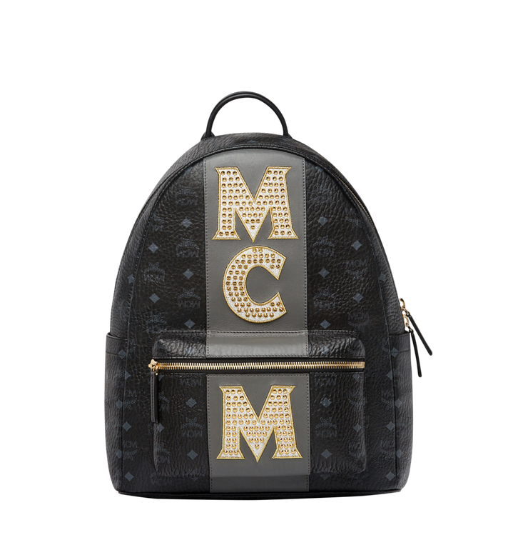 MCM Sac à dos Stark en Visetos Logo Stripe MMK8SVE82BK001 AlternateView