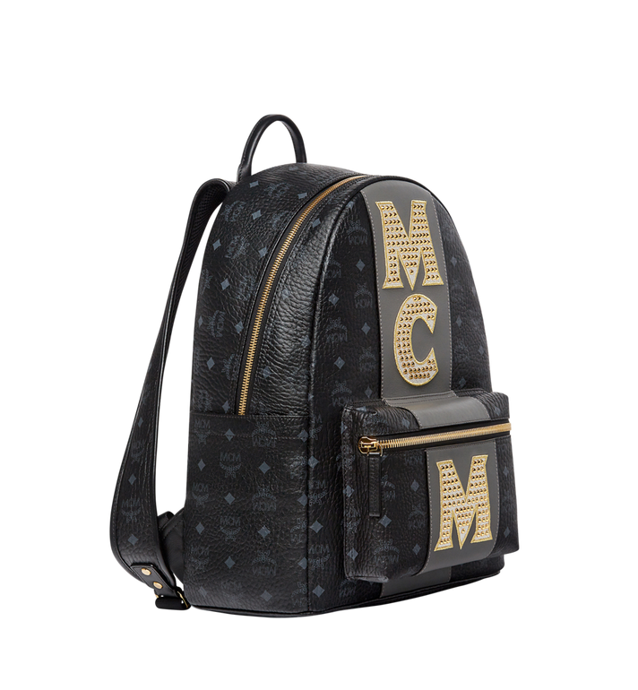 MCM Sac à dos Stark en Visetos Logo Stripe MMK8SVE82BK001 AlternateView2